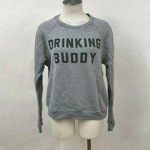 Project Social T Sweatshirt Drinking Buddy Grey